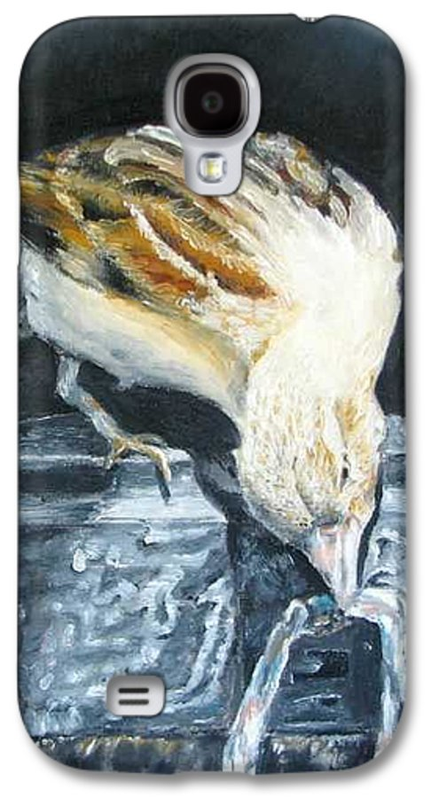 Oil Painting On Canvas Galaxy S4 Case featuring the painting Bird Original Oil Painting by Natalja Picugina