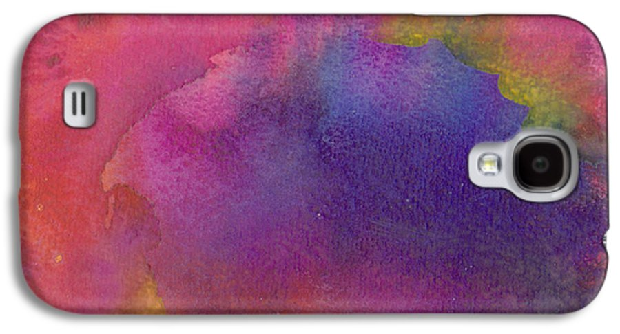 Red Galaxy S4 Case featuring the painting Birth by Christina Rahm Galanis