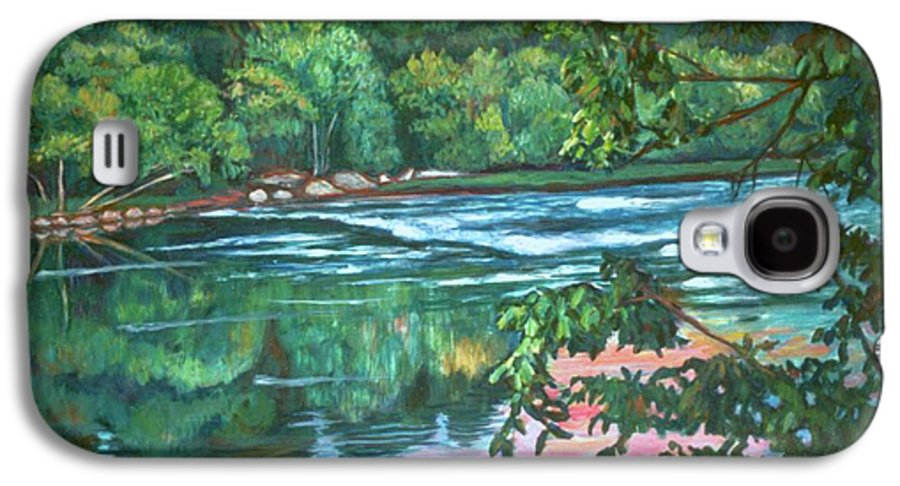 River Galaxy S4 Case featuring the painting Bisset Park Rapids by Kendall Kessler