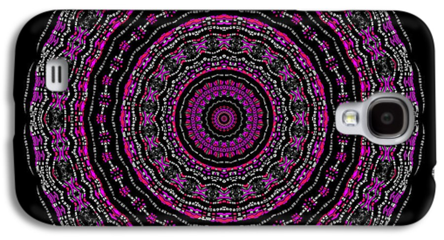 Digital Galaxy S4 Case featuring the digital art Black And White Mandala No. 3 In Color by Joy McKenzie