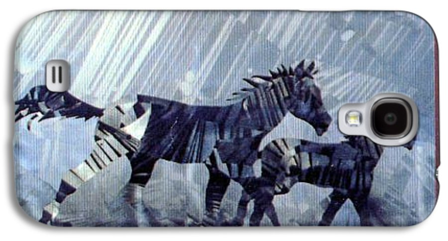 Wildlife Galaxy S4 Case featuring the painting Black And White Nineteen Fifty Six by Rick Silas