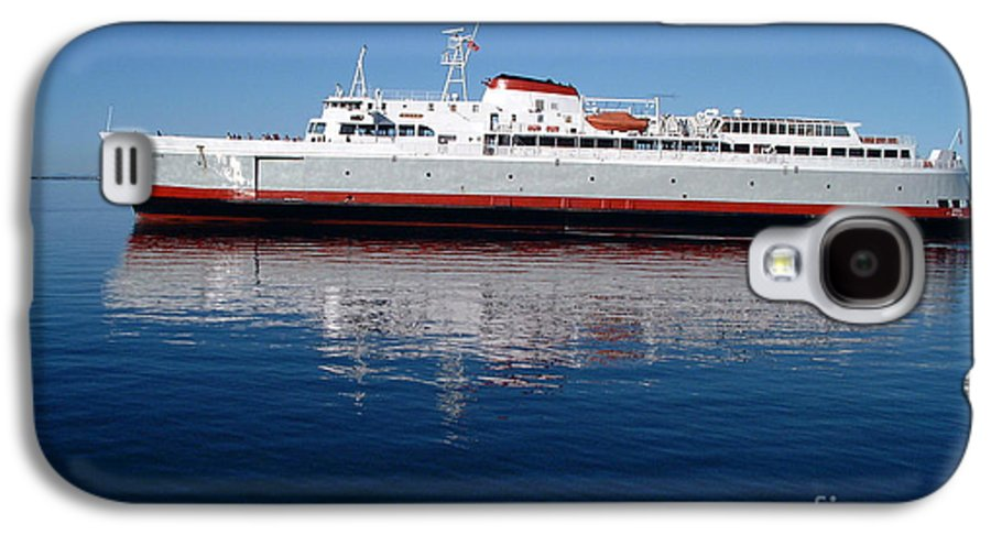 Boat Galaxy S4 Case featuring the photograph Black Ball Ferry by Larry Keahey