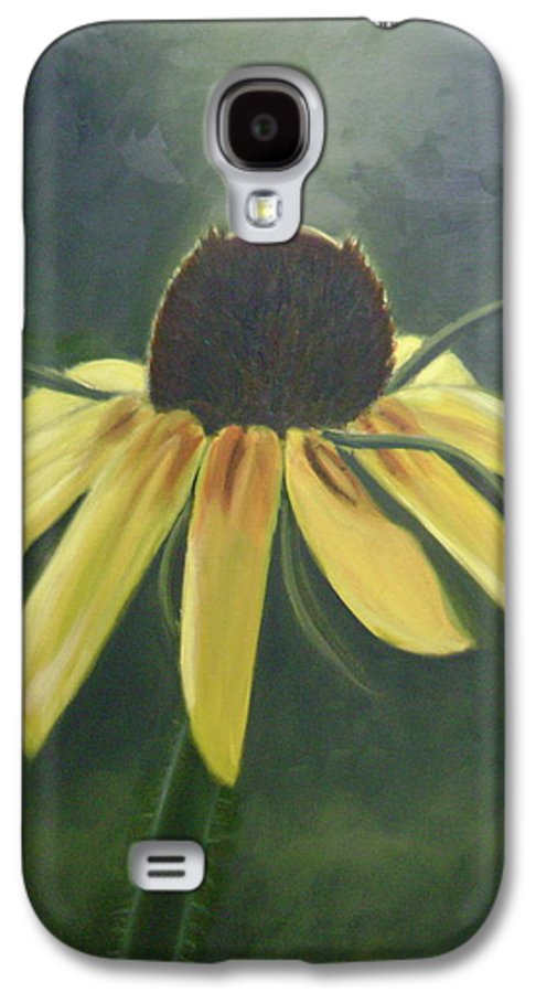 Flower Galaxy S4 Case featuring the painting Black Eyed Susan by Toni Berry