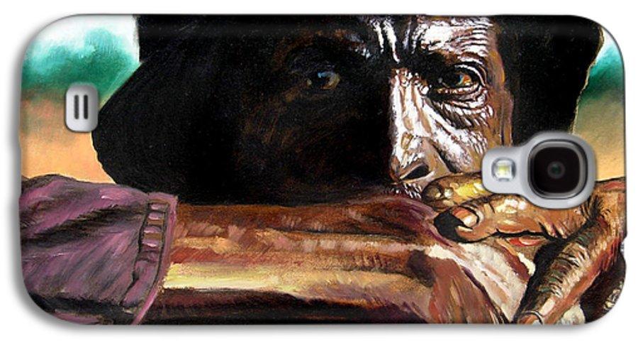 Black Farmer Galaxy S4 Case featuring the painting Black Farmer by John Lautermilch
