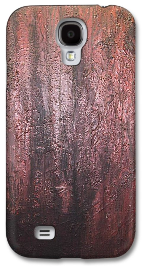 Abstract Galaxy S4 Case featuring the painting Black No 1 by Elizabeth Klecker