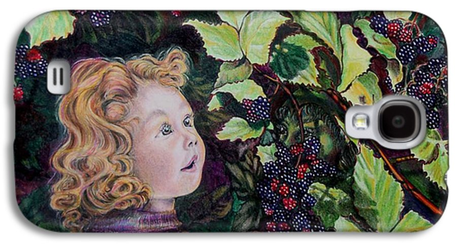 Blackberry Galaxy S4 Case featuring the drawing Blackberry Elf by Susan Moore