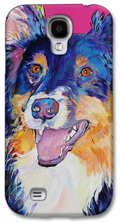 Dog Galaxy S4 Case featuring the painting Blackjack by Pat Saunders-White