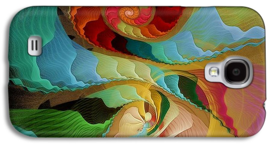 Fractal Galaxy S4 Case featuring the digital art Blending Into Our Souls by Gayle Odsather