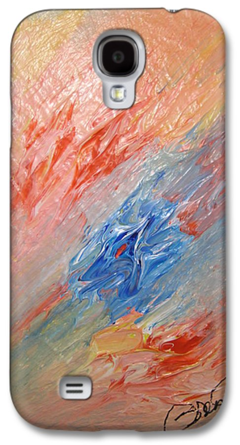 Abstract Galaxy S4 Case featuring the painting Bliss - B by Brenda Basham Dothage