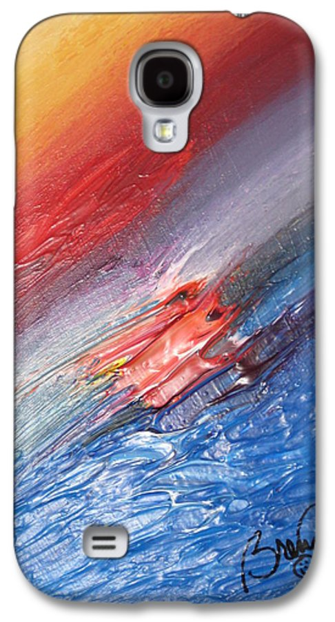 Abstract Galaxy S4 Case featuring the painting Bliss - D by Brenda Basham Dothage