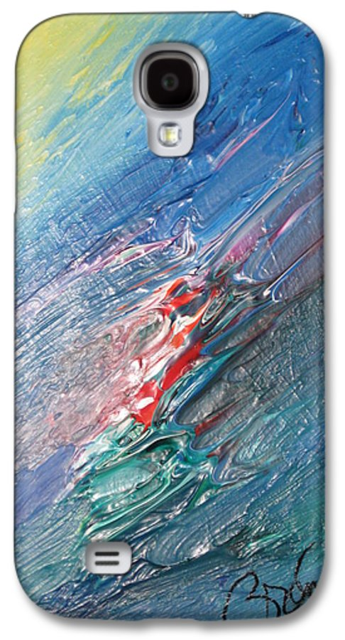 Abstract Galaxy S4 Case featuring the painting Bliss - F by Brenda Basham Dothage