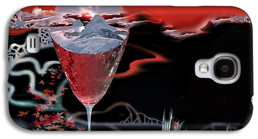 Blood Galaxy S4 Case featuring the digital art Blood Red From Pure White by Jennifer Kathleen Phillips