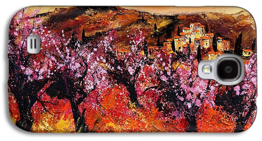 Provence Cherrytree Summer Spring Galaxy S4 Case featuring the painting Blooming Cherry Trees by Pol Ledent