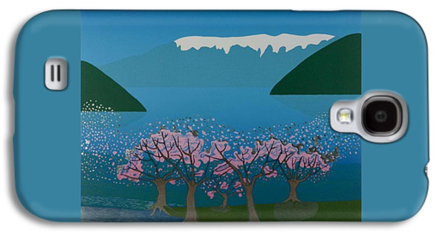 Landscape Galaxy S4 Case featuring the mixed media Blossom In The Hardanger Fjord by Jarle Rosseland