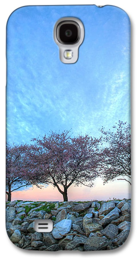 Cherry Blossoms Blossom Washington Dc Potomac River Sunrise Sunset Joint Base Anacostia Bolling Afb Alexandria Va Virginia Galaxy S4 Case featuring the photograph Blossoms by JC Findley