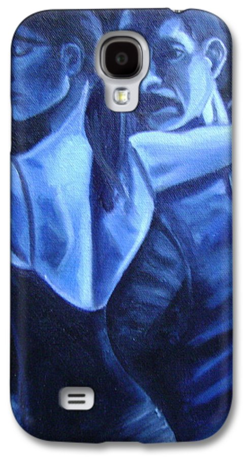 Galaxy S4 Case featuring the painting Bludance by Toni Berry