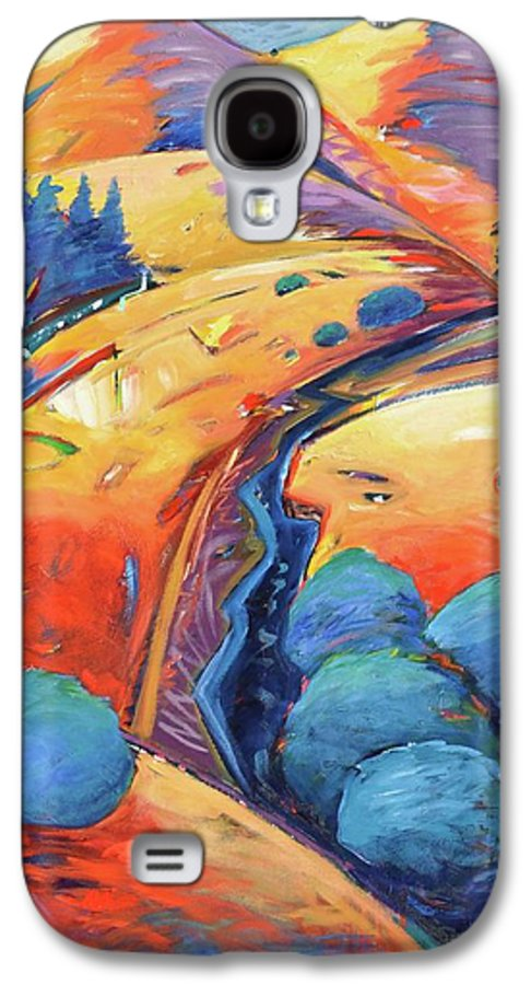 Hills Galaxy S4 Case featuring the painting Blue And Gold by Gary Coleman