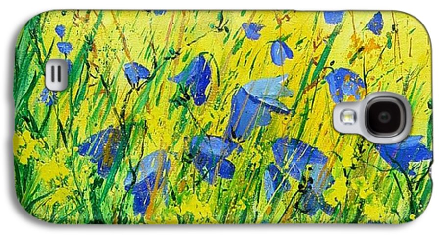 Poppies Galaxy S4 Case featuring the painting Blue Bells by Pol Ledent