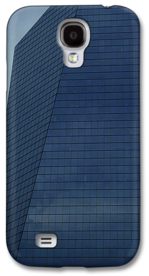 City Galaxy S4 Case featuring the photograph Blue Building by Linda Sannuti