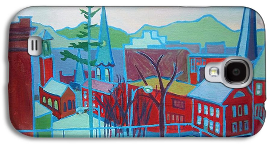 Burlington Galaxy S4 Case featuring the painting Blue Burlington by Debra Bretton Robinson