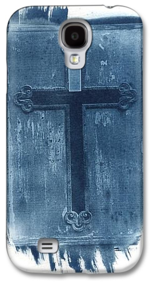 Cyanotype Galaxy S4 Case featuring the photograph Blue Cross by Jane Linders