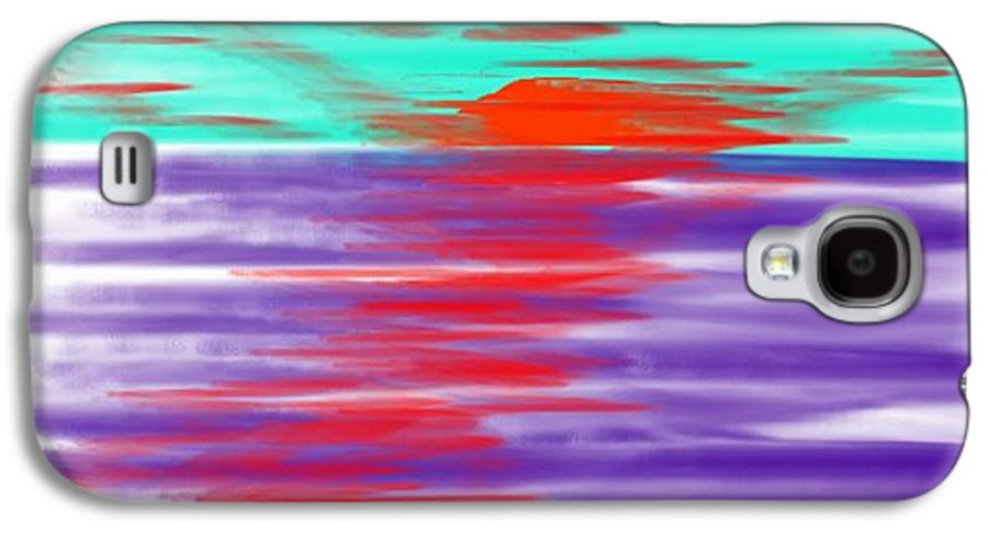 Sky.clouds.sun.sunrays.sunset.sea.water.reflection.slow Waves.deep Water.evening.rest.silence Galaxy S4 Case featuring the digital art Blue Deep Evening by Dr Loifer Vladimir