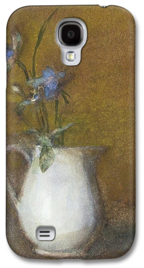 Floral Still Life Galaxy S4 Case featuring the painting Blue Flower by Joan DaGradi
