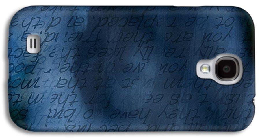 Implication Galaxy S4 Case featuring the photograph Blue Glimpse by Vicki Ferrari
