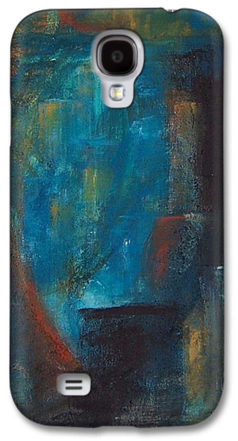 Abstract Galaxy S4 Case featuring the painting Blue Grotto by Karen Day-Vath