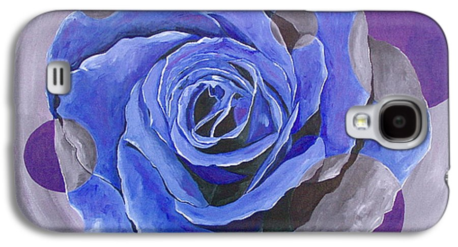 Acrylic Galaxy S4 Case featuring the painting Blue Ice by Herschel Fall