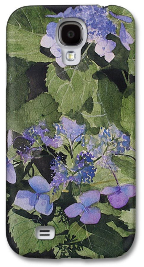 Flowers Galaxy S4 Case featuring the painting Blue Lace by Jean Blackmer