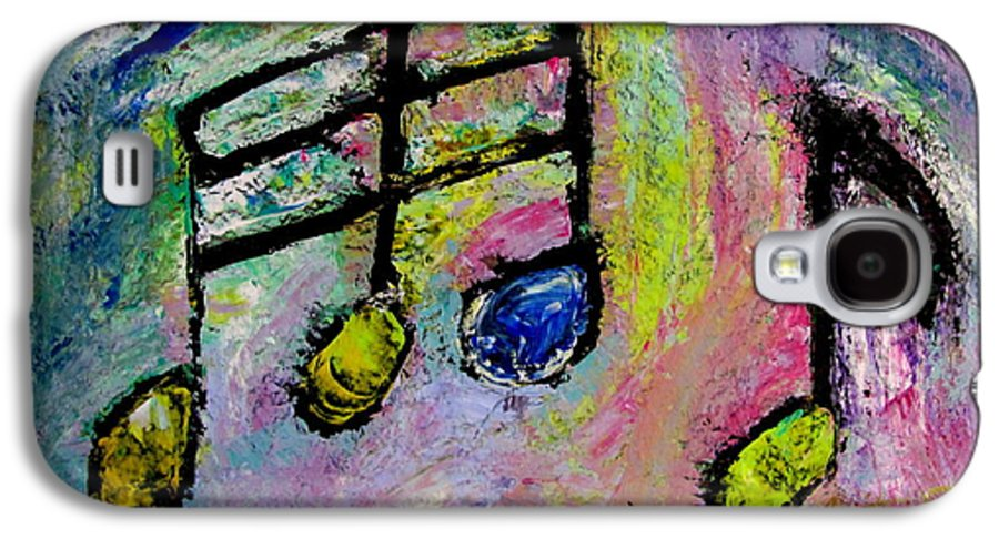 Impressionist Galaxy S4 Case featuring the painting Blue Note by Anita Burgermeister