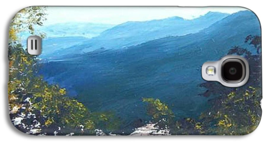 Landscape Galaxy S4 Case featuring the painting Blue Ridge by Tami Booher