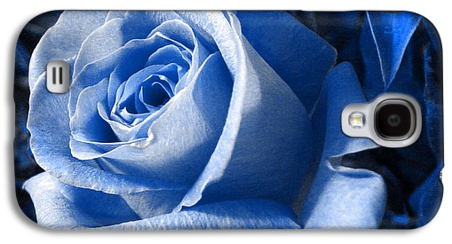 Blue Galaxy S4 Case featuring the photograph Blue Rose by Shelley Jones