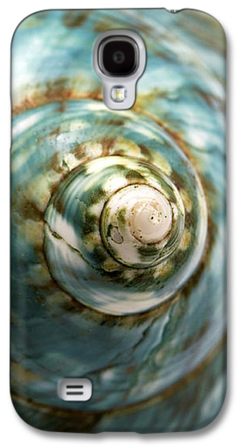 Macro Galaxy S4 Case featuring the photograph Blue Seashell by Fabrizio Troiani