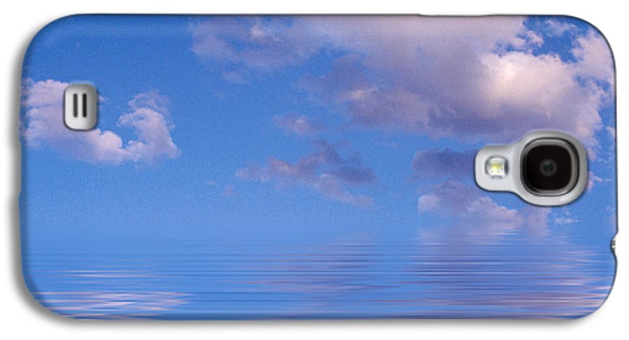Original Art Galaxy S4 Case featuring the photograph Blue Sky Reflections by Jerry McElroy