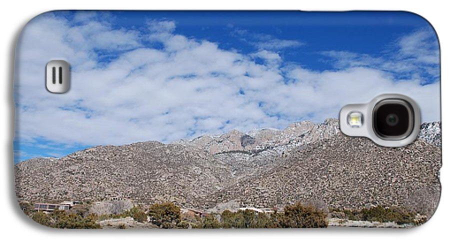 Sandia Mountains Galaxy S4 Case featuring the photograph Blue Skys Over The Sandias by Rob Hans