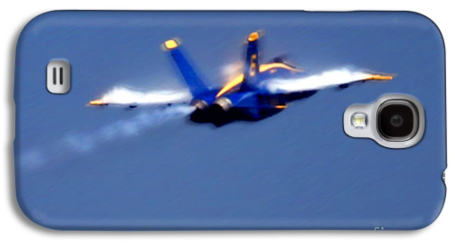 Blue Angles Galaxy S4 Case featuring the photograph Blue Solo by Larry Keahey