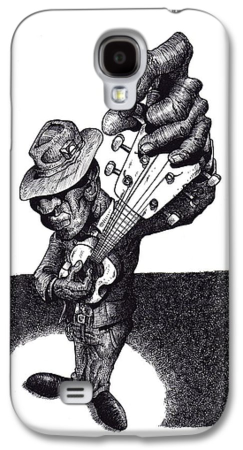 Blues Galaxy S4 Case featuring the drawing Blues Guitar by Tobey Anderson
