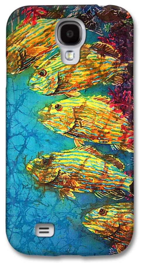 Bluestriped Grunts Galaxy S4 Case featuring the painting Bluestriped Grunts by Sue Duda