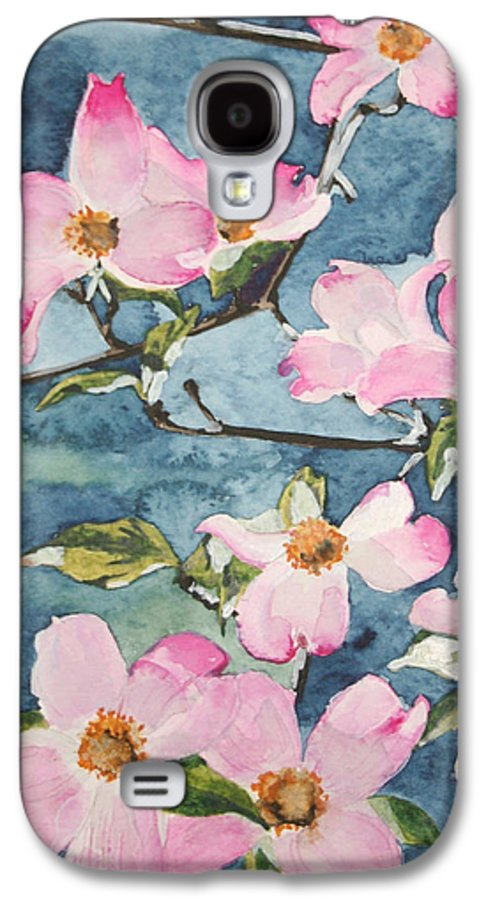 Flowers Galaxy S4 Case featuring the painting Blushing Prettily by Jean Blackmer