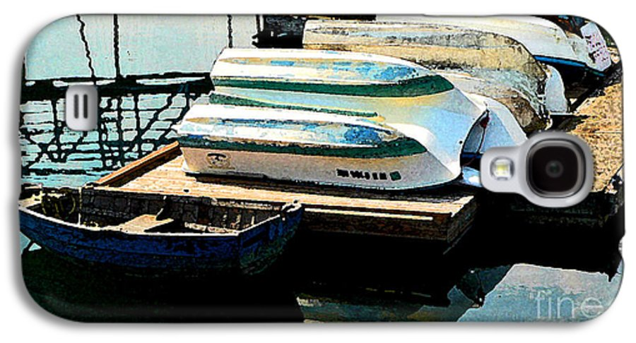 Boats Galaxy S4 Case featuring the photograph Boats In Waiting by Larry Keahey