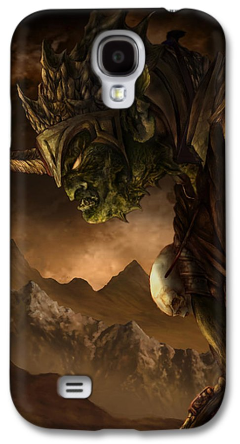 Goblin Galaxy S4 Case featuring the mixed media Bolg The Goblin King by Curtiss Shaffer