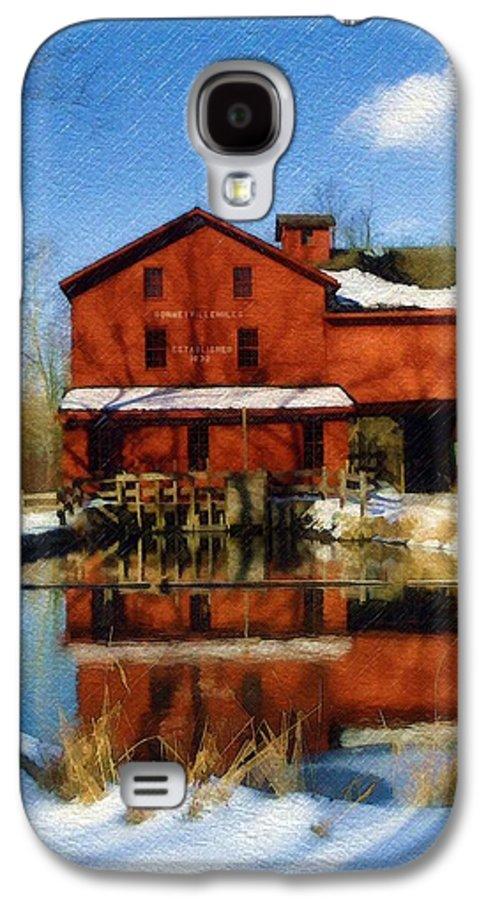 Bonneyville Mill Galaxy S4 Case featuring the photograph Bonneyville In Winter by Sandy MacGowan