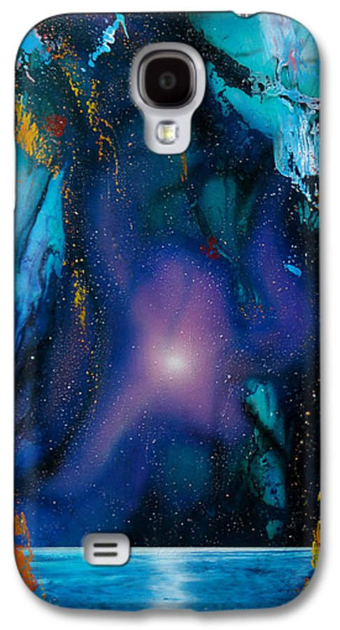 Nebula Caribe Galaxy S4 Case featuring the painting Borealis by Angel Ortiz