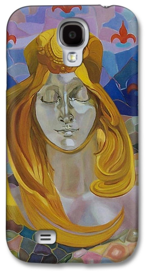Figurative Galaxy S4 Case featuring the painting Born-after Mucha by Antoaneta Melnikova- Hillman