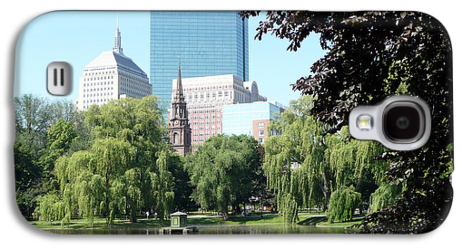 Garden Galaxy S4 Case featuring the photograph Boston Public Garden by Kathy Schumann