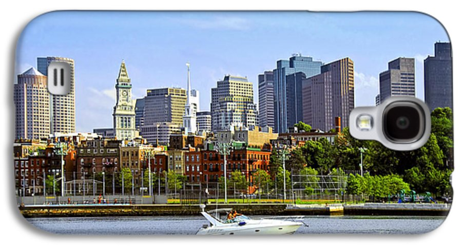Boat Galaxy S4 Case featuring the photograph Boston Skyline by Elena Elisseeva