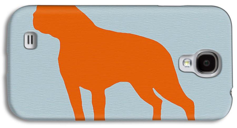 Boston Terrier Galaxy S4 Case featuring the digital art Boston Terrier Orange by Naxart Studio