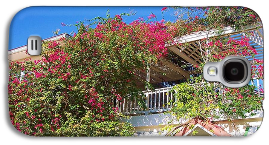 Flowers Galaxy S4 Case featuring the photograph Bougainvillea Villa by Debbi Granruth